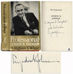 Lyndon B. Johnson The Professional Signed
