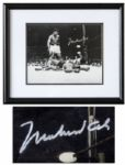 Muhammad Ali Photo Signed of His Fight With Liston For His First Heavyweight Championship -- With JSA & Steiner COA