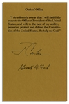 Oath of Office Souvenir Slip Signed by Jimmy Carter & Gerald Ford
