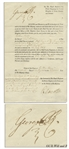 King George III Document Signed From 1812 -- With Bold & Large George PR Signature