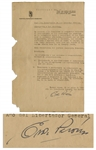 First Lady of Argentina Eva Peron 1950 Circular Signed