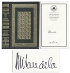 Nelson Mandela Signed Copy of His Autobiography Long Walk to Freedom -- Beautiful, Fine Edition
