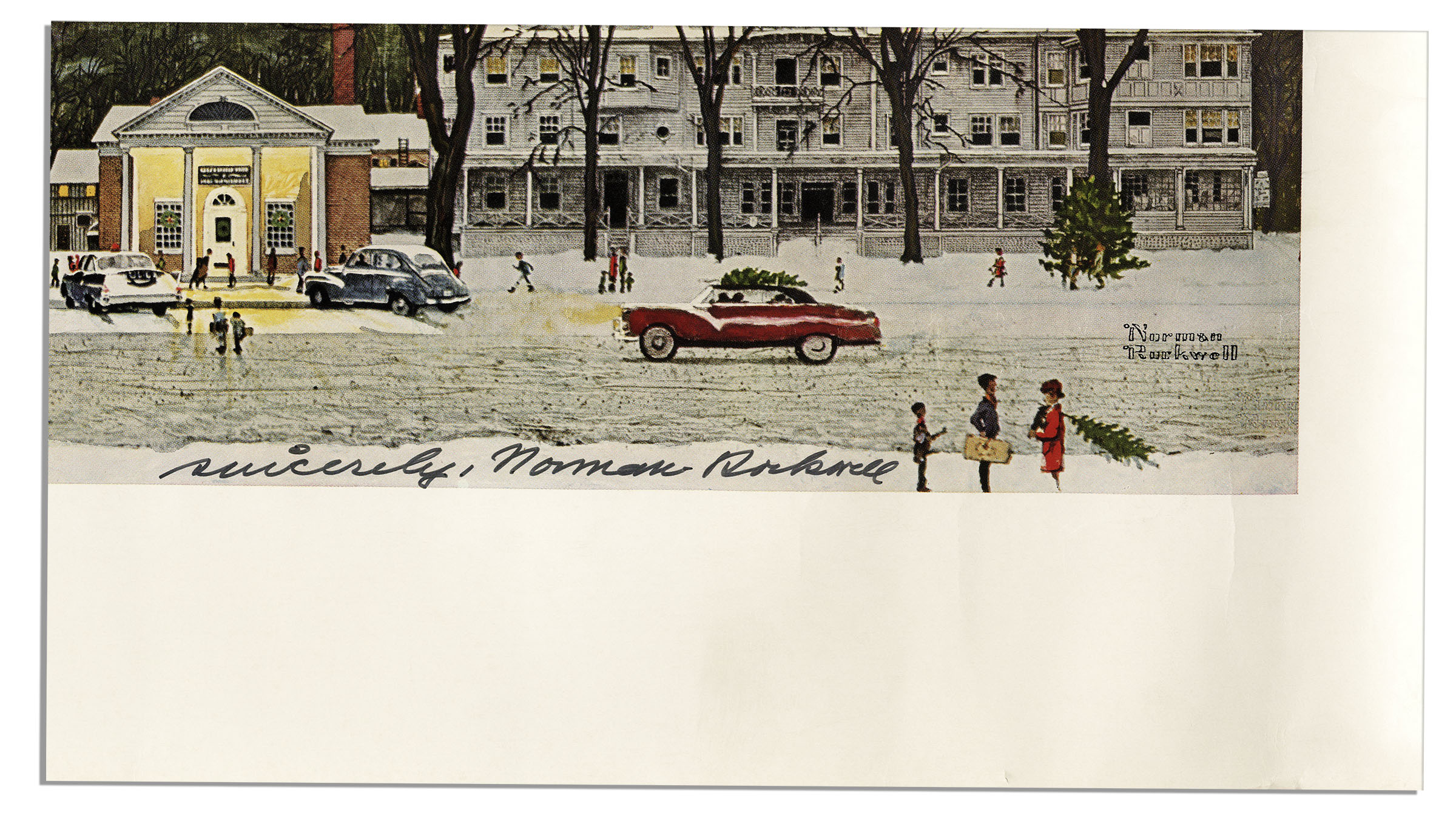 Lot Detail - Norman Rockwell Signed Print of His Iconic \'\'Main ...