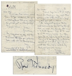 Two Rose Kennedy Autograph Letters Signed -- Rose Writes to Ethel Kennedy & Also Her Maid