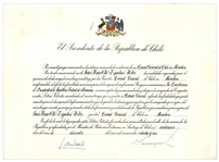 Augusto Pinochet Signed Declaration, Appointing the German Consul for Chile