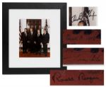 Rare 8 x 10 Photograph Signed by Four Presidents -- Signed by Nixon, Ford, Carter and Reagan -- With PSA/DNA COA