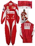 World Champion Fernando Alonso Race-Worn & Signed Rare Ferrari Suit -- From 2010 Formula One Season