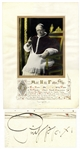 Pope Pius XI Signed Blessing & Photo Display -- Signed as Pope in 1931