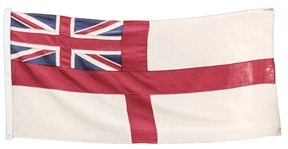 King Edward VIII Personally Owned British Royal Navy Flag -- With Provenance From Sothebys