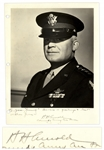 Five-Star General Hap Arnold Signed 8.5 x 11 Photo -- Dedicated to WWII Air Force General James Bevans