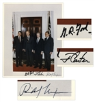 Three Presidents Signed 8 x 10 Photo -- Signed by Nixon, Ford & Carter