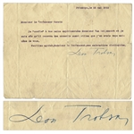 Leon Trotsky Typed Letter Signed -- ...I entrust to your experienced hands...