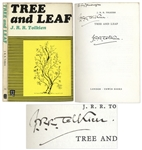 J.R.R. Tolkien Signed Copy of Tree and Leaf -- With PSA/DNA COA