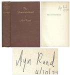 Ayn Rand Signed Copy of The Fountainhead -- With PSA/DNA COA