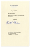 Richard Nixon Signed Souvenir Resignation