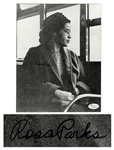 Rosa Parks Signed Photograph -- With COA From JSA