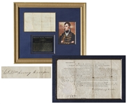 William Henry Harrison Document Signed as Governor of the Indiana Territory in 1811