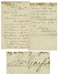 James Garfield Autograph Letter Signed in 1880 -- ...I should be glad to be present at the reunion of that noble regiment which did such gallant service...