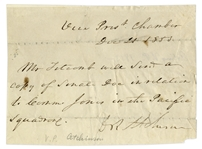 President for a Day David Rice Atchison Autograph Note Signed -- Atchison Was Acting President on 4 March 1849