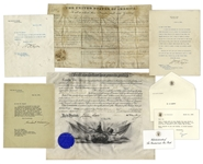 Presidential Autograph Lot -- Letters & Documents Signed by Presidents Monroe, McKinley, Taft, Hoover & Bush