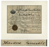 Theodore Roosevelt Military Appointment Signed as Governor of New York -- Roosevelt Appoints a National Guardsman