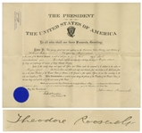 Theodore Roosevelt Military Appointment Signed as President