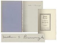 William S. Burroughs Signed Limited Edition of Doctor Benway