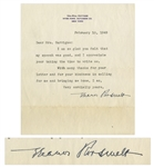 Eleanor Roosevelt Typed Letter Signed -- Sent From Hyde Park in 1949 -- ...I am so glad you felt that my speech was good...