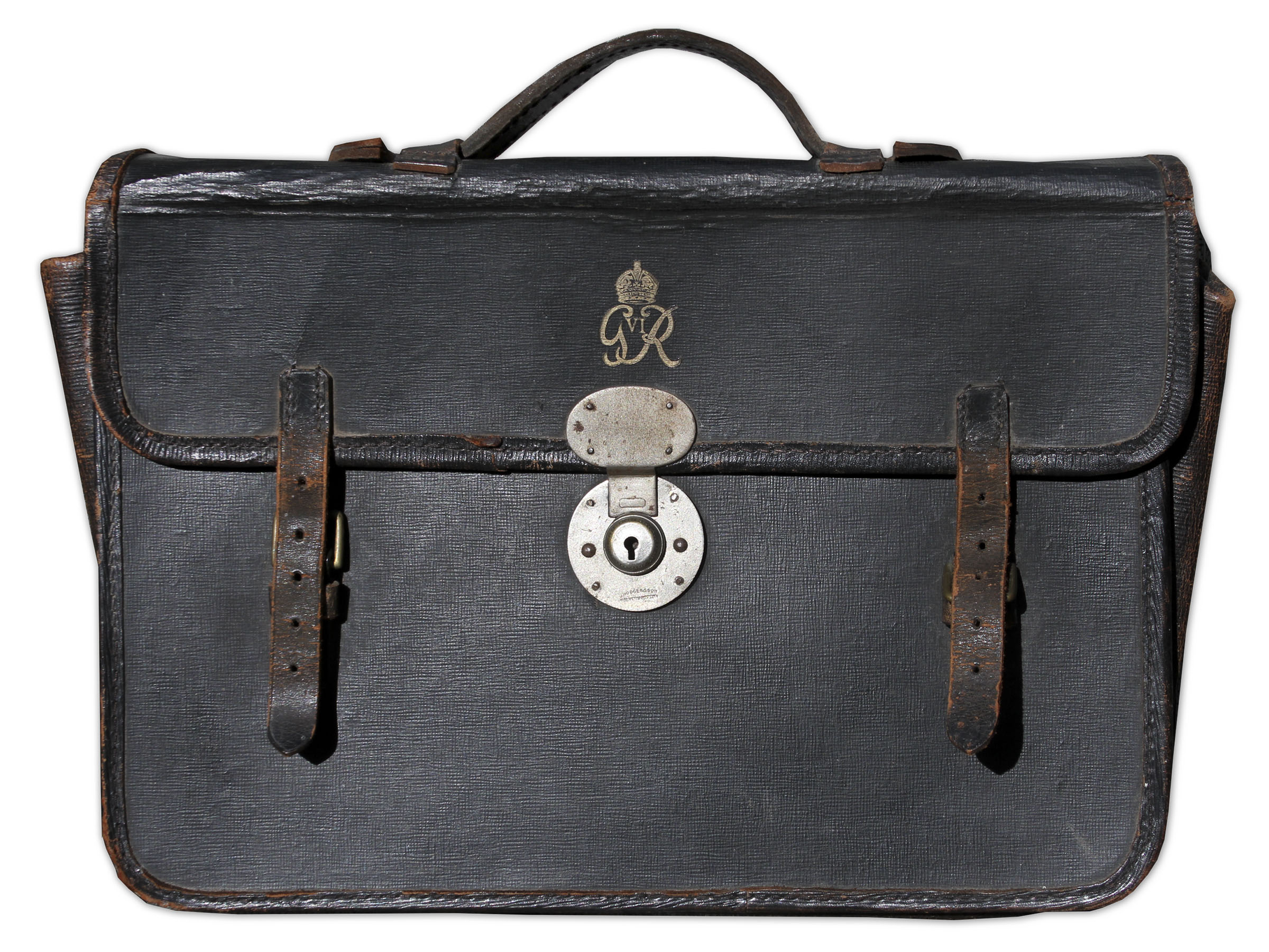 King George Memorabilia King George VI's Briefcase From WWII -- Includes Large Lot of Wartime Photographs Within