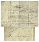 Queen Victoria Signed Military Appointment From 1848