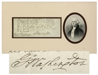George Washington Autograph Document Signed From Mount Vernon in 1788