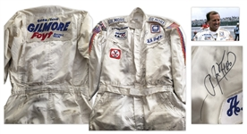 Racing Champion A.J. Foyt Signed & Race-Worn Suit