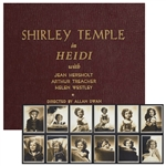 Shirley Temples Personal Album of Portrait Photographs of Herself by George Hurrell From the 1937 Film Heidi