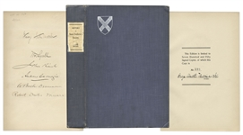 Andrew Carnegie Signed Book -- History of Saint Andrews Society