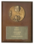 1965 Emmy Award Plaque -- For View From Catoctin, Which Documents LBJs Creation of the Job Corps