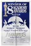 Large Academy Awards Poster for 1984 Best Picture Amadeus