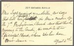 First Lady Helen Taft Autograph Letter -- Written in the Third Person