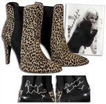 Sienna Miller Signed Shoes -- With 8 x 10 Signed Photo