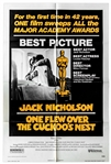 One Flew Over The Cuckoos Nest 1975 Poster