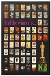 Academy Awards Poster Featuring the Best Picture Winners from 1927-1985