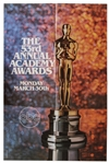 53rd Academy Awards Poster From 1981