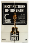 The Godfather Part II Movie Poster -- 1974 Poster Celebrates Iconic Films Academy Award Wins
