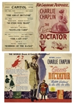 Charlie Chaplin The Great Dictator Handbill -- From the Iconic 1940 Comedy