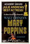 Academy Awards Poster for 1964 Film Mary Poppins