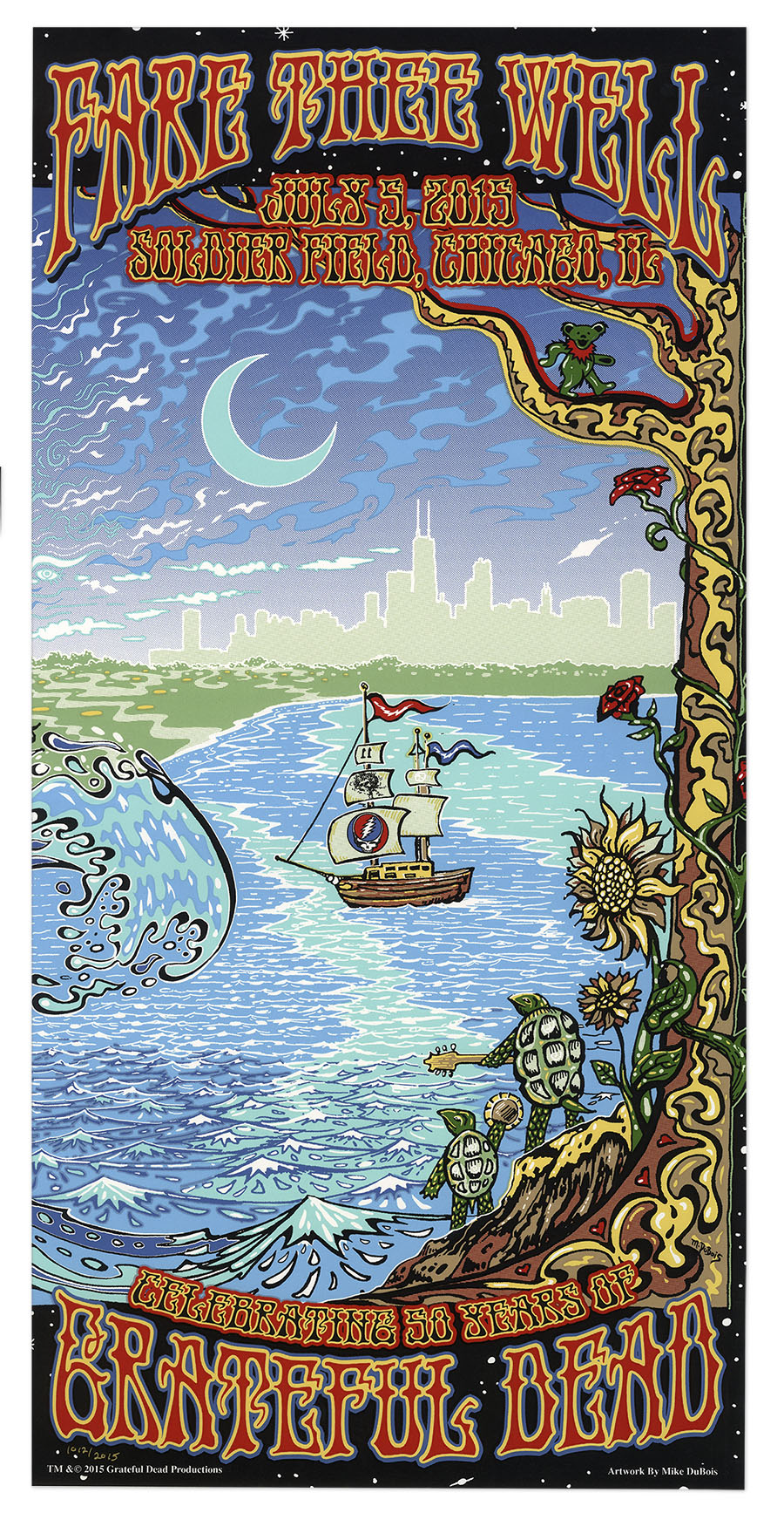 FARE THEE WELL GD50 2015 Steal Your Face Grateful Dead LE