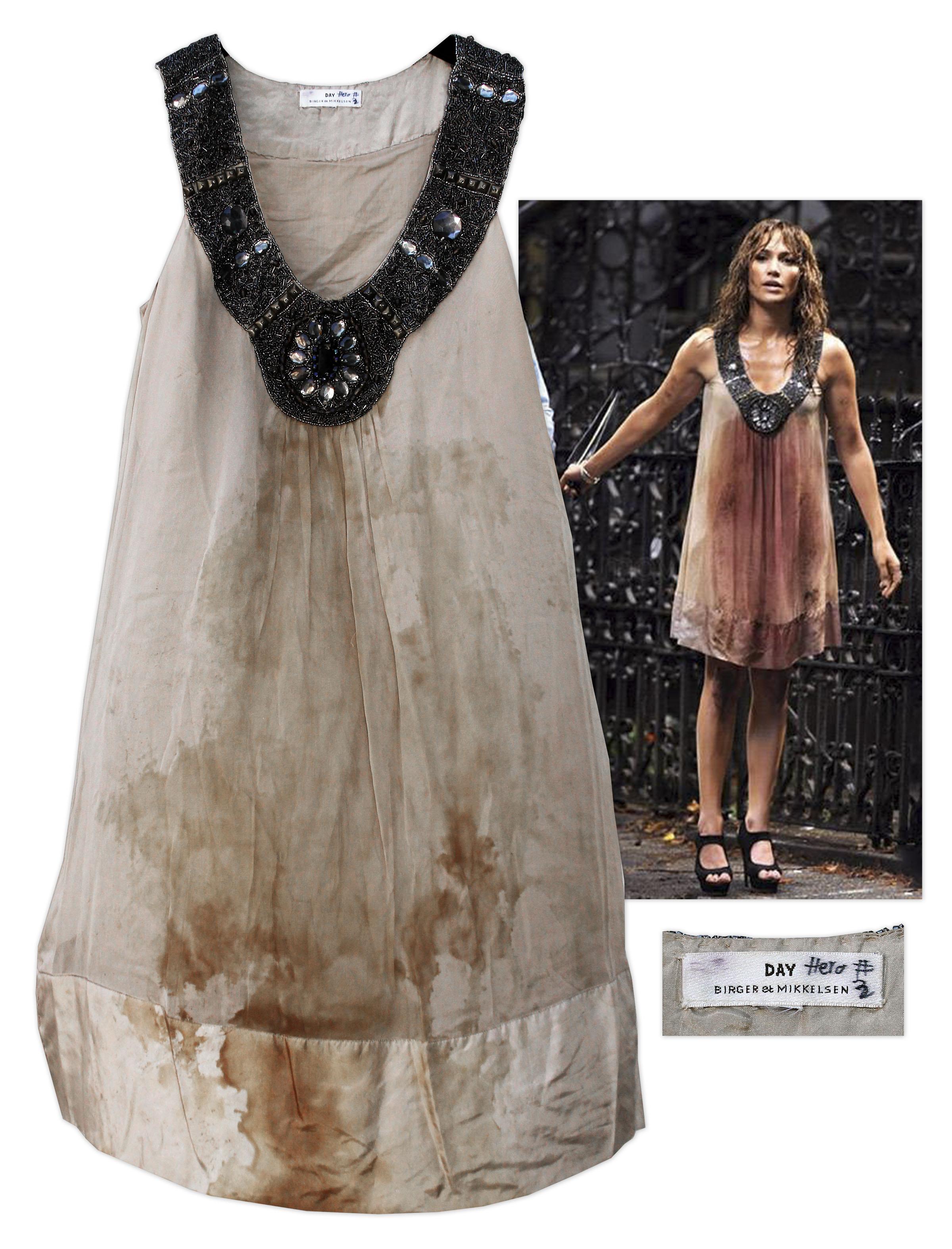 lot detail jennifer lopez screenworn dress from the