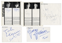 Beatles Signed Program From 1962 -- Signed by John, George & Ringo -- With Roger Epperson COA