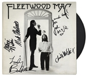 Fleetwood Mac Signed Fleetwood Mac 1975 LP -- Signed by Buckingham, Nicks, McVie and Fleetwood -- With COA From Roger Epperson