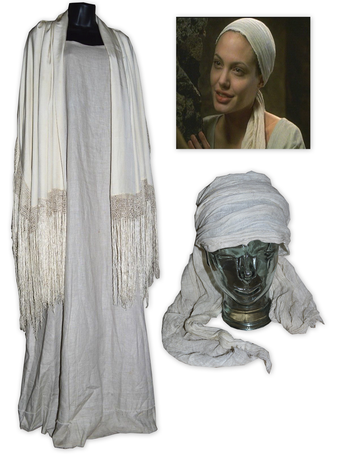 Angelina Jolie Original Sin lot detail - angelina jolie screen-worn costume from