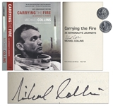 Michael Collins Carrying The Fire: An Astronauts Journeys Signed -- 40th Anniversary Edition Softcover